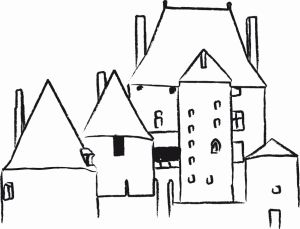 dessin château Fourchaud