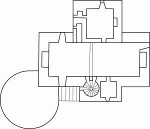 dessin Fourchaud plan 1er étage